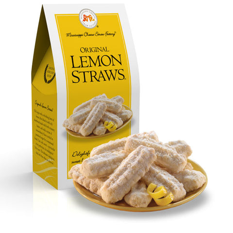 Original Lemon Straws Shortbread Cookies- 3.5oz - TheMississippiGiftCompany.com