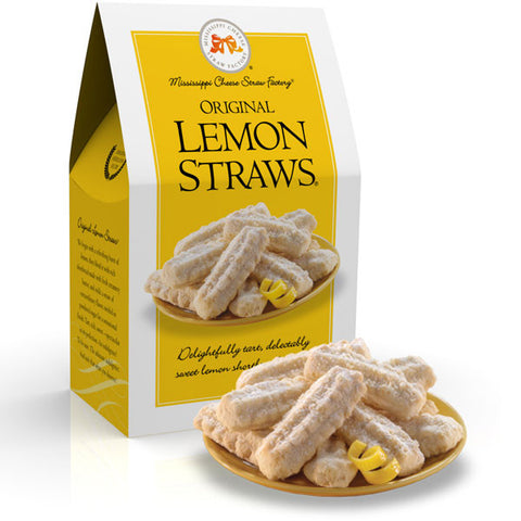 Original Lemon Straws Shortbread Cookies- 6.5oz - TheMississippiGiftCompany.com
