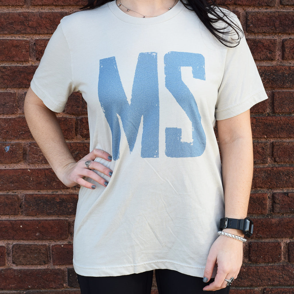 Short Sleeved MS Tee-Heathered Dust