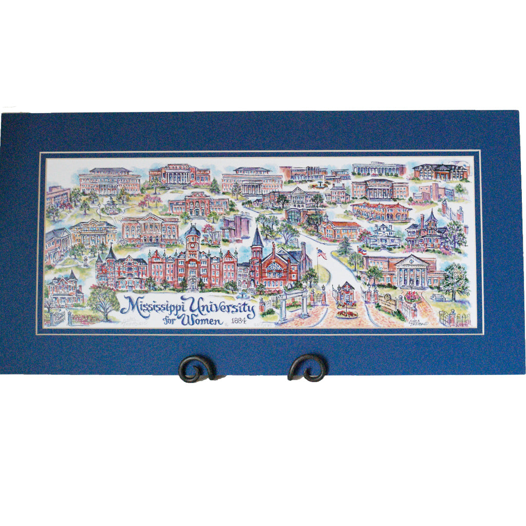 Mississippi University for Women Print - TheMississippiGiftCompany.com