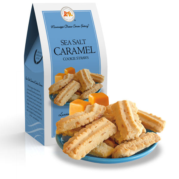 Sea Salt Caramel Straws 3.5 oz. - TheMississippiGiftCompany.com