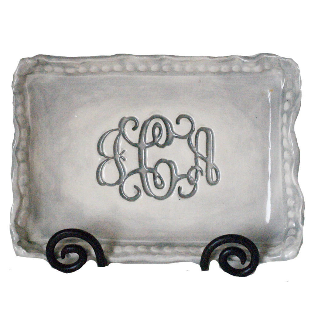 Rectangle Monogram Platter - TheMississippiGiftCompany.com