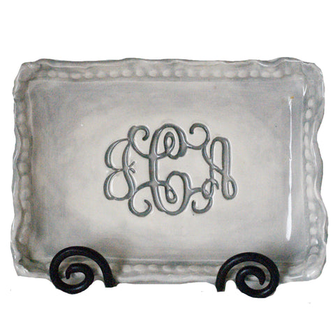 Rectangle Monogram Platter