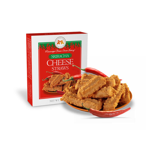 Sriracha Cheese Straws 1 oz - TheMississippiGiftCompany.com