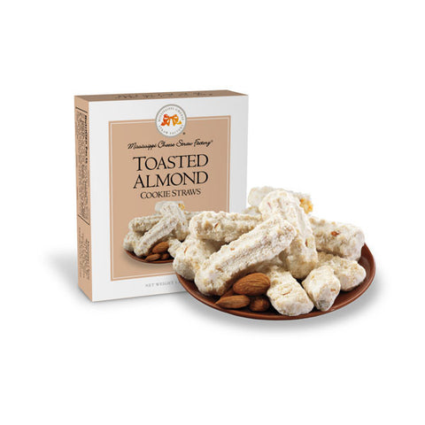 http://WWW.THEMISSISSIPPIGIFTCOMPANY.COM/Toasted-Almond-Cookie-Straws--1-oz.aspx