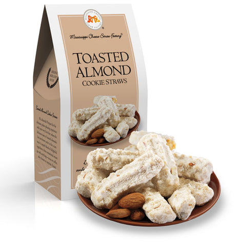 http://WWW.THEMISSISSIPPIGIFTCOMPANY.COM/Toasted-Almond-Cookie-Straws--3.5oz.aspx