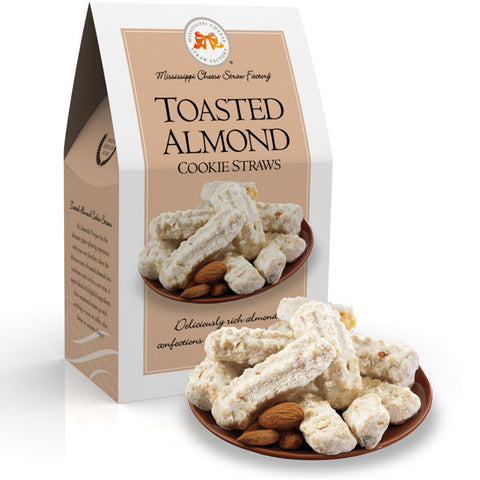 http://WWW.THEMISSISSIPPIGIFTCOMPANY.COM/Toasted-Almond-Cookie-Straws--6.5oz.aspx