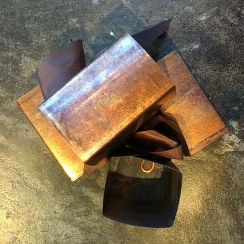 Copper Scalloped Napkin Rings - TheMississippiGiftCompany.com