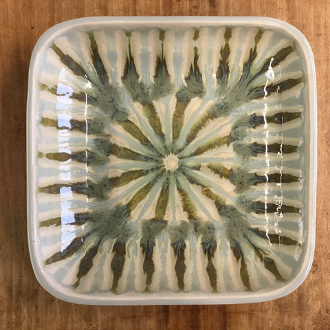 Teal Small Square Serving Bowl
