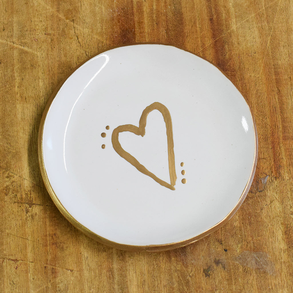 Large Ring Dish with Heart - TheMississippiGiftCompany.com