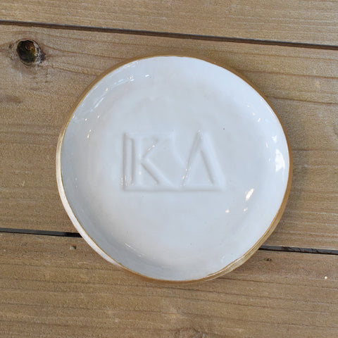 A Shelby Pottery Sorority Large Ring Dish - TheMississippiGiftCompany.com