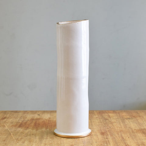 "Gold and White  9"" Vase - TheMississippiGiftCompany.com"