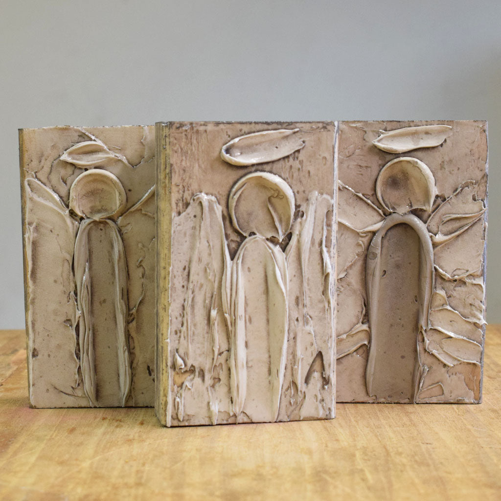 Wooden Block 4x6-Angel - TheMississippiGiftCompany.com