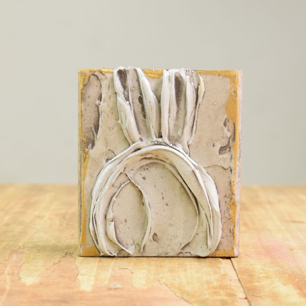 Wooden Block 4x4- Bunny - TheMississippiGiftCompany.com
