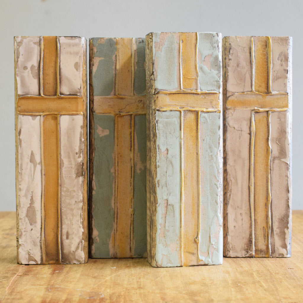 Wooden Block 3x8-Cross - TheMississippiGiftCompany.com