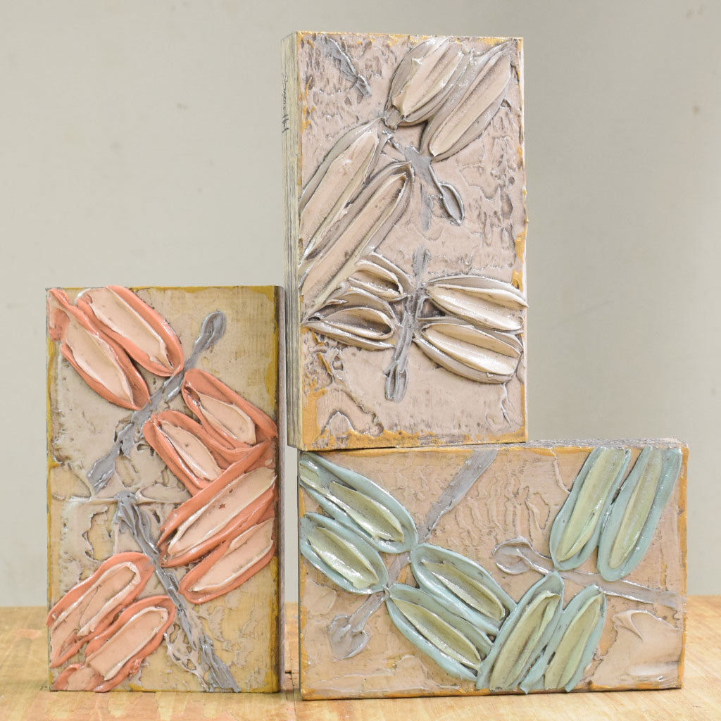 Wooden Block 6x9-Dragonfly - TheMississippiGiftCompany.com