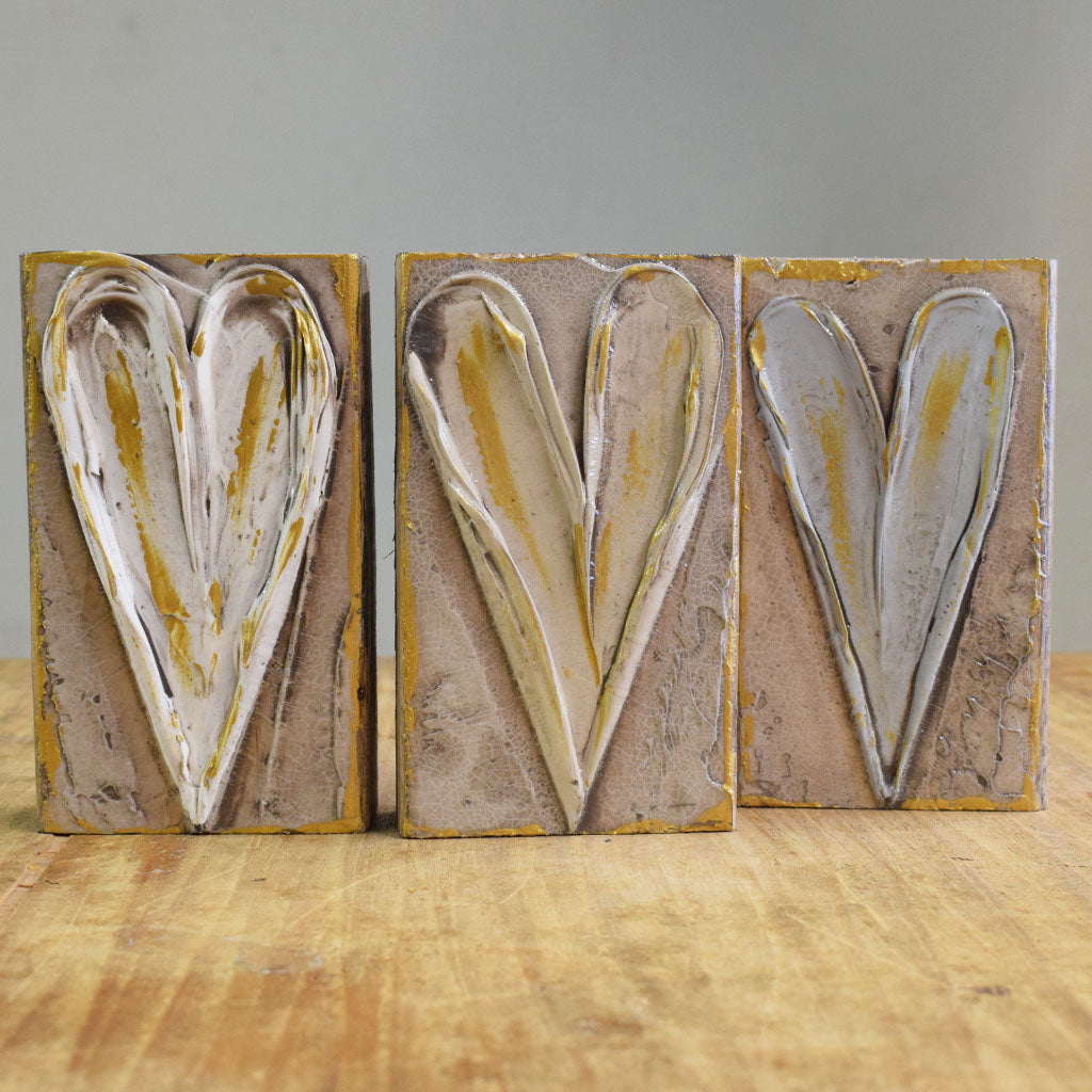 Wooden Block 4x6-Heart - TheMississippiGiftCompany.com