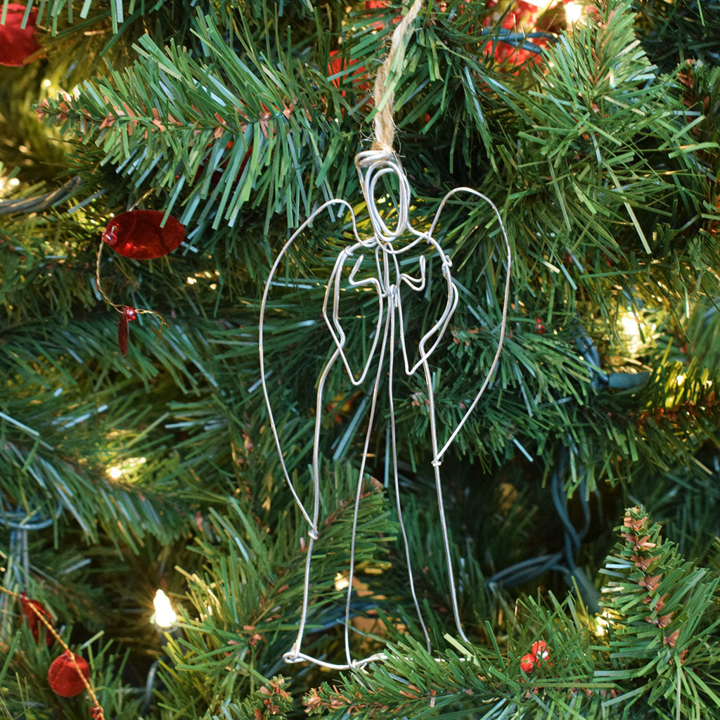 Angel Wire Ornament - TheMississippiGiftCompany.com