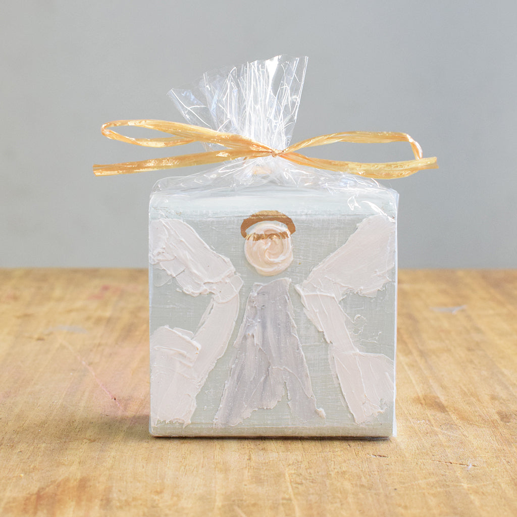 Angel Wooden Block-Blue