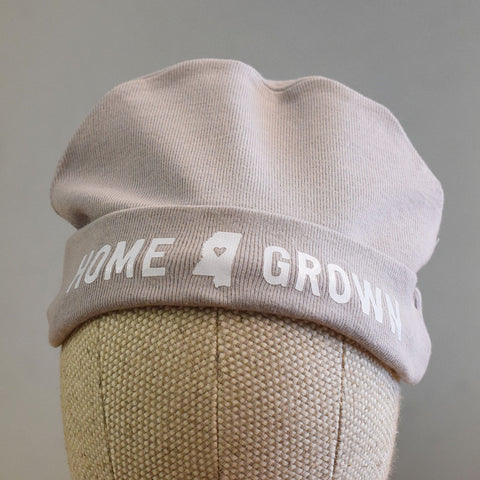 Mississippi Baby Beanie Gray