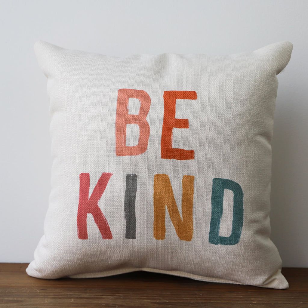 Be Kind Multi Square Pillow - TheMississippiGiftCompany.com