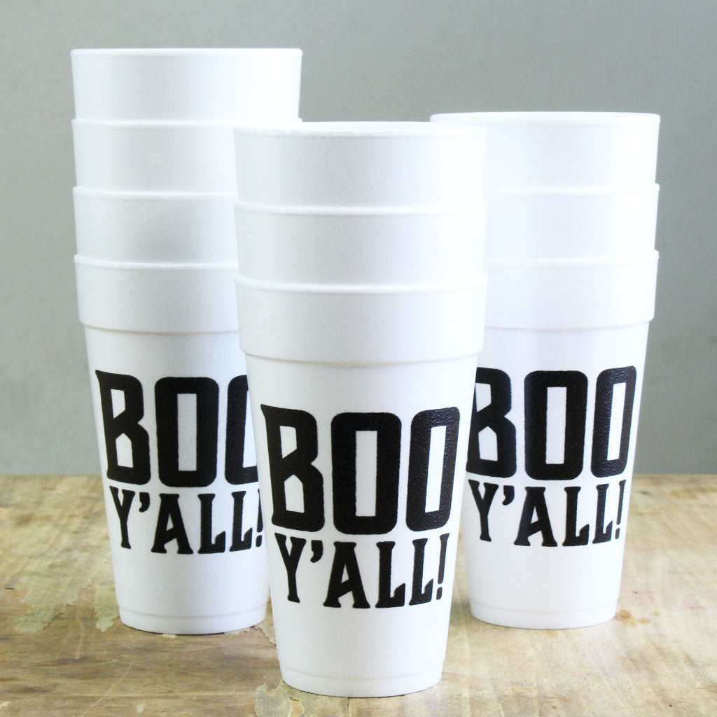 Boo Y'all Foam Cups