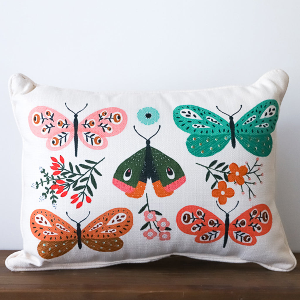 Botanical Butterfly Pillow - TheMississippiGiftCompany.com
