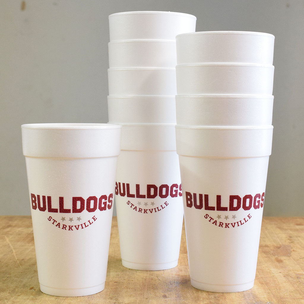 Bulldogs Foam Cups - TheMississippiGiftCompany.com