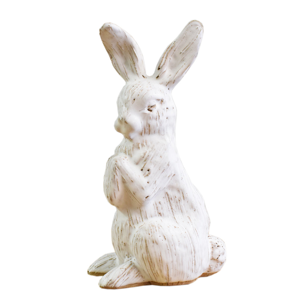 Bunny Without Basket White - TheMississippiGiftCompany.com