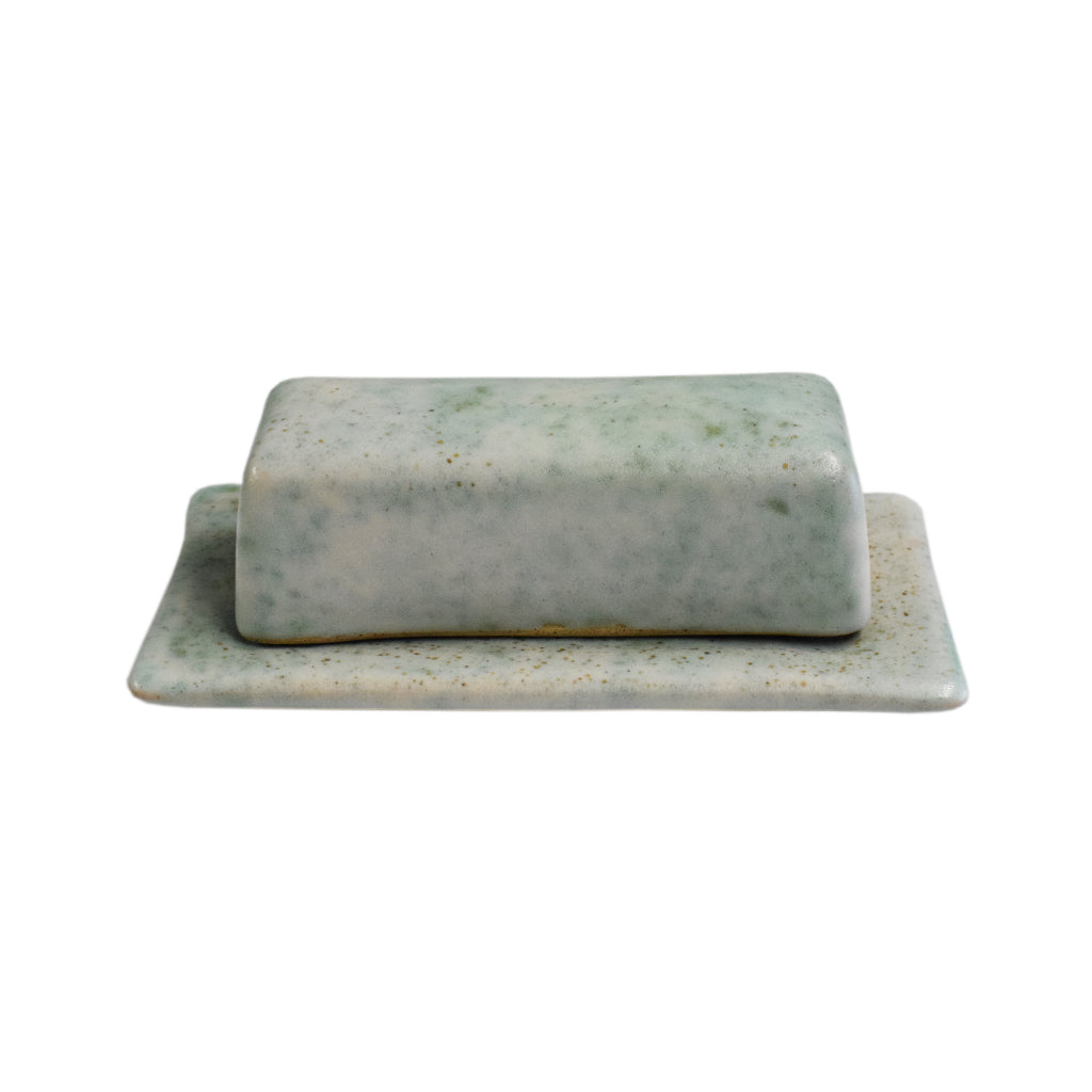 Butter Dish Jade - TheMississippiGiftCompany.com