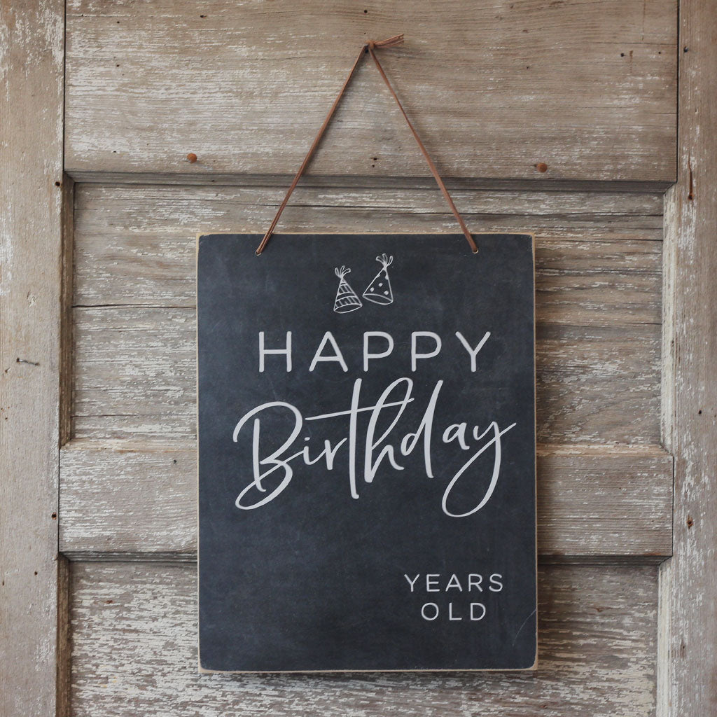 Chalkboard - Happy Birthday