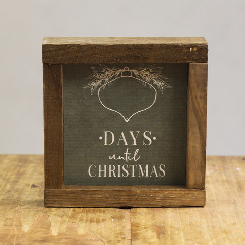 Days Until Christmas Plaque