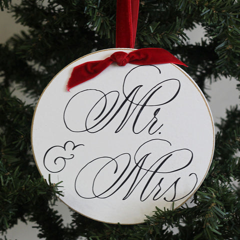 Mr. & Mrs. Round Ornament