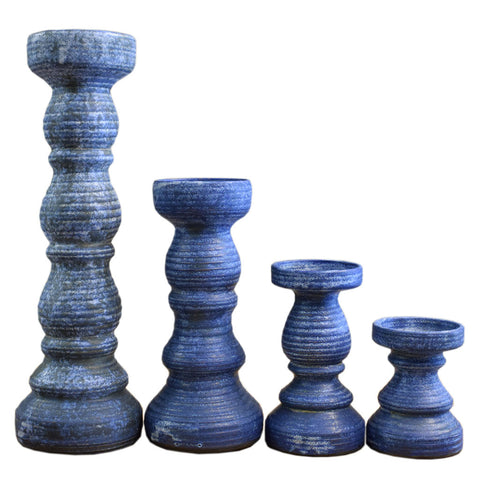 Candlesticks-Blue - TheMississippiGiftCompany.com