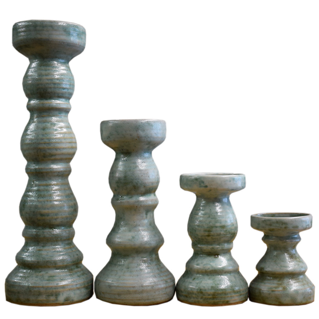 Candlesticks- Jade - TheMississippiGiftCompany.com