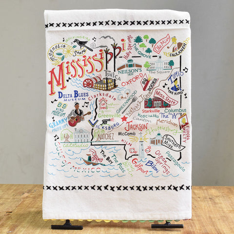Catstudio Mississippi Kitchen Towel - TheMississippiGiftCompany.com