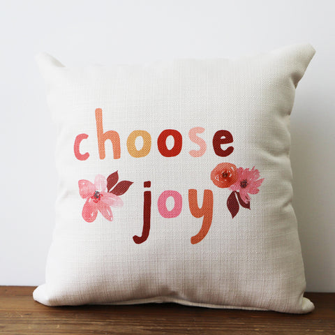 Choose Joy Square Pillow - TheMississippiGiftCompany.com