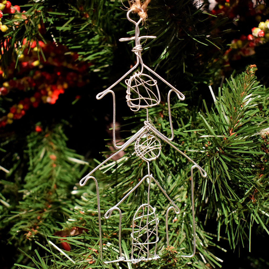 Church Wire Ornament - TheMississippiGiftCompany.com