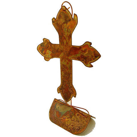 Copperworx Floating Cross - TheMississippiGiftCompany.com
