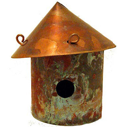 Copper Decorative Bird House - TheMississippiGiftCompany.com
