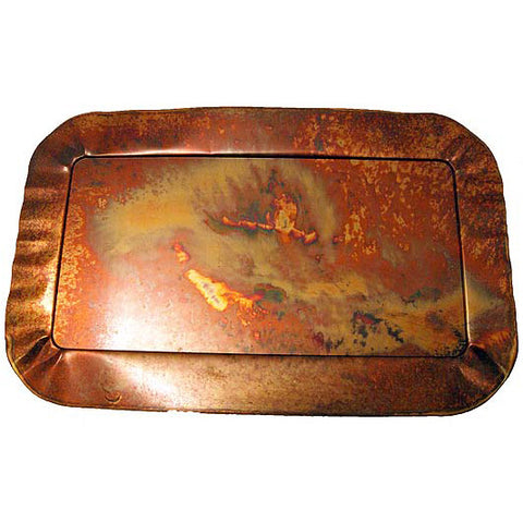 Copperworx Fluted Platter Large - TheMississippiGiftCompany.com