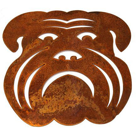 Copper Large Bulldog Head - TheMississippiGiftCompany.com