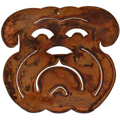 Copper Small Bulldog Head Ornament - TheMississippiGiftCompany.com