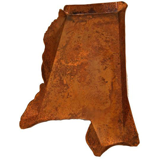Copper Large Mississippi Shaped Platter - TheMississippiGiftCompany.com