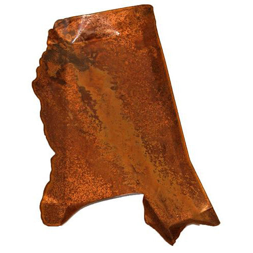 Copper Small Mississippi Shaped Platter - TheMississippiGiftCompany.com