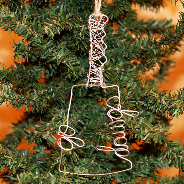 Cowbell Wire Ornament - TheMississippiGiftCompany.com