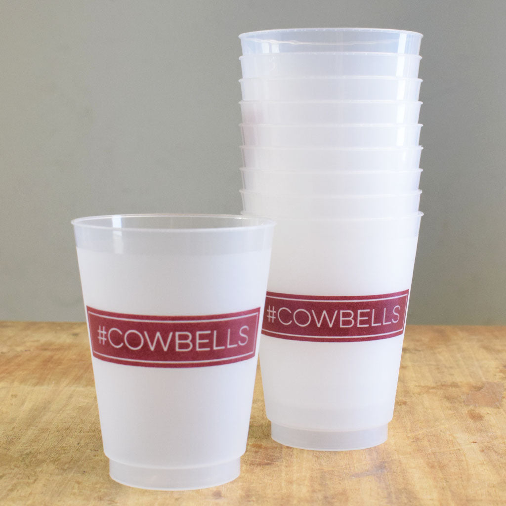 #Cowbells Frosted Cups - TheMississippiGiftCompany.com