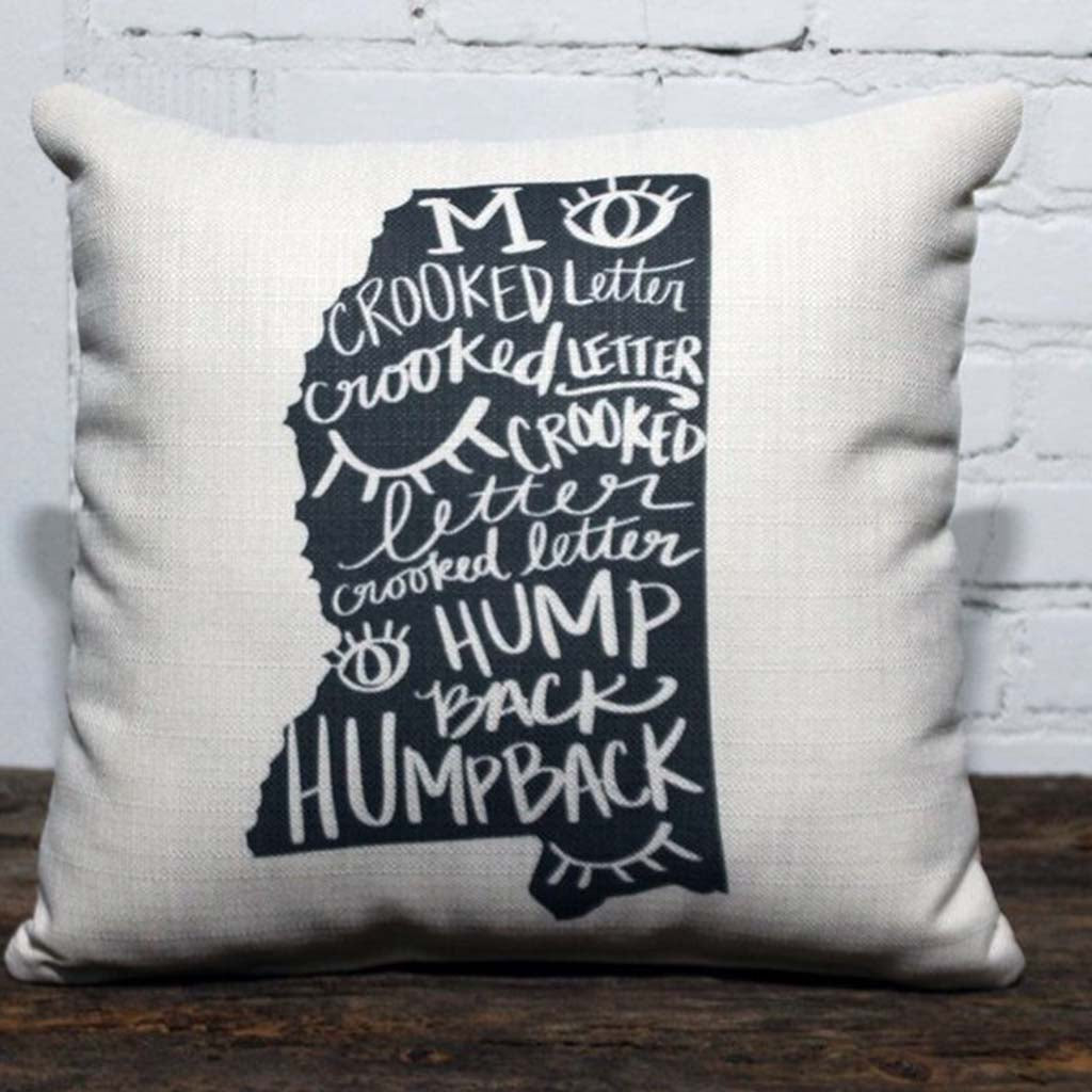 Crooked Letter Square Pillow