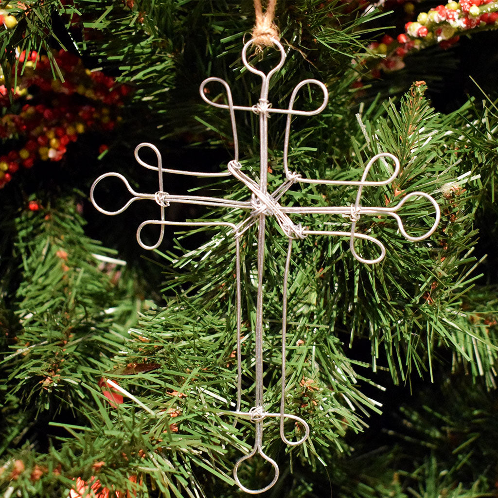 Cross Wire Ornament