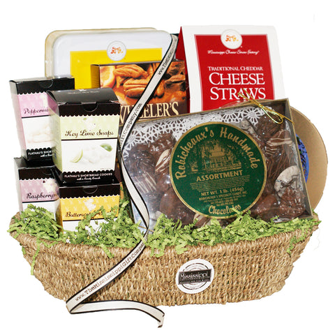Deluxe Mississippi Gourmet Snack Basket - TheMississippiGiftCompany.com
